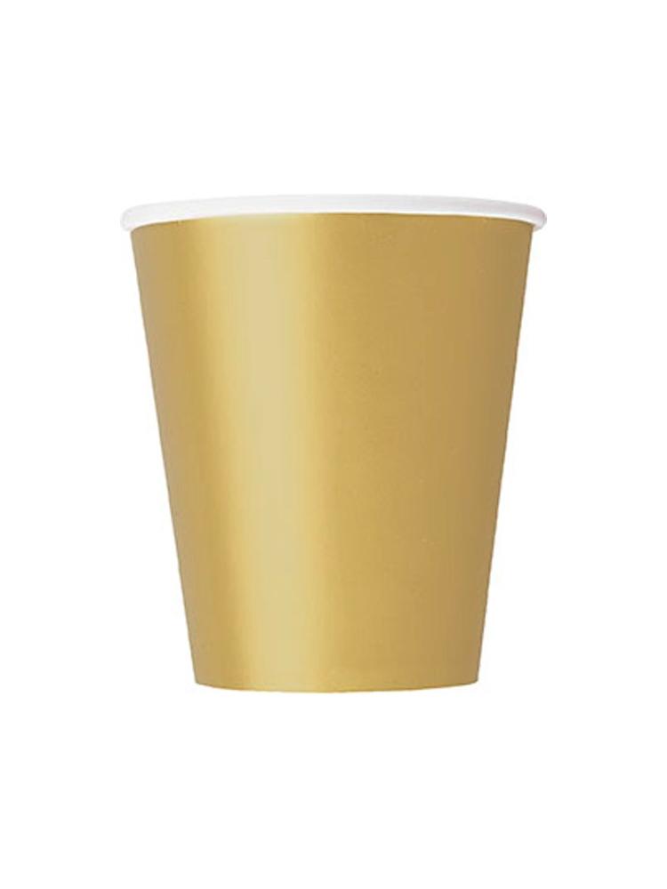 Gold 9oz Paper Cup (PK 8)