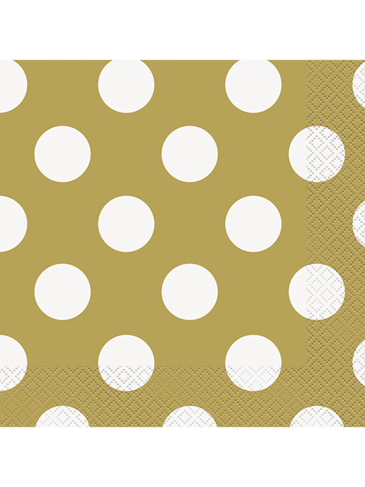 Gold Dot Lunch Napkins