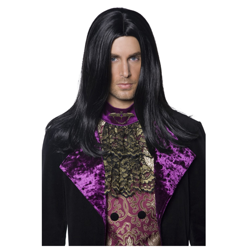 Gothic Count Wig - Black