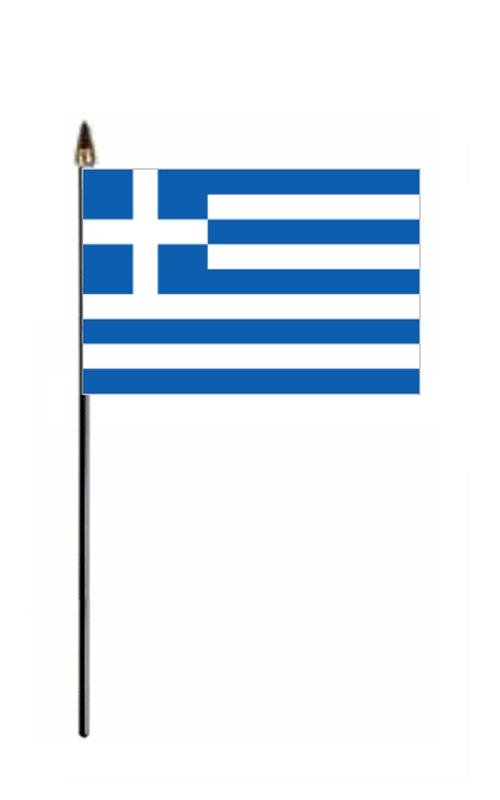 Greece Hand Held Flag