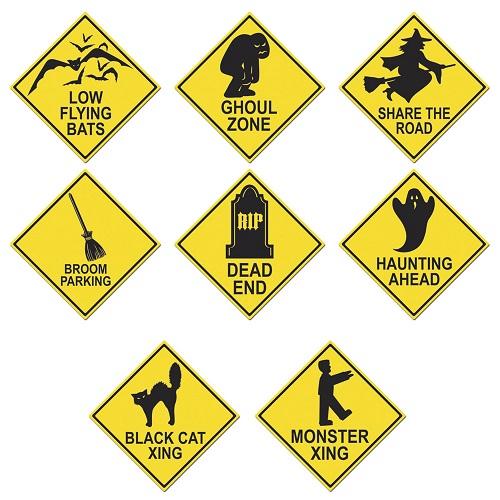 Halloween Road Sign Cutouts