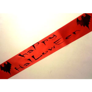 Halloween Sash with Bat Design