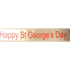 Happy St George's Day Sash