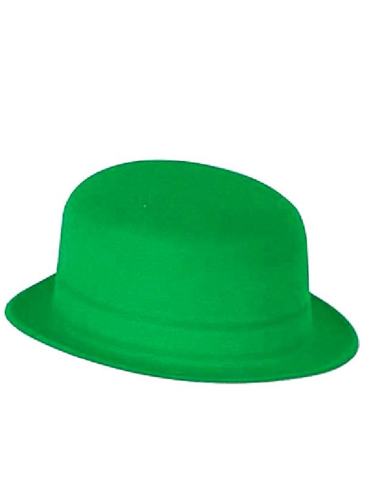 Green Velour Bowler Hat