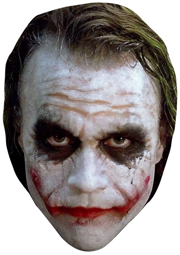 Heath Ledger Joker Face Mask