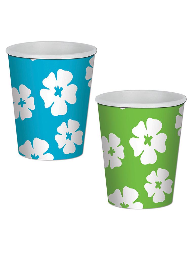 Hibiscus Beverage Cups 9 Oz