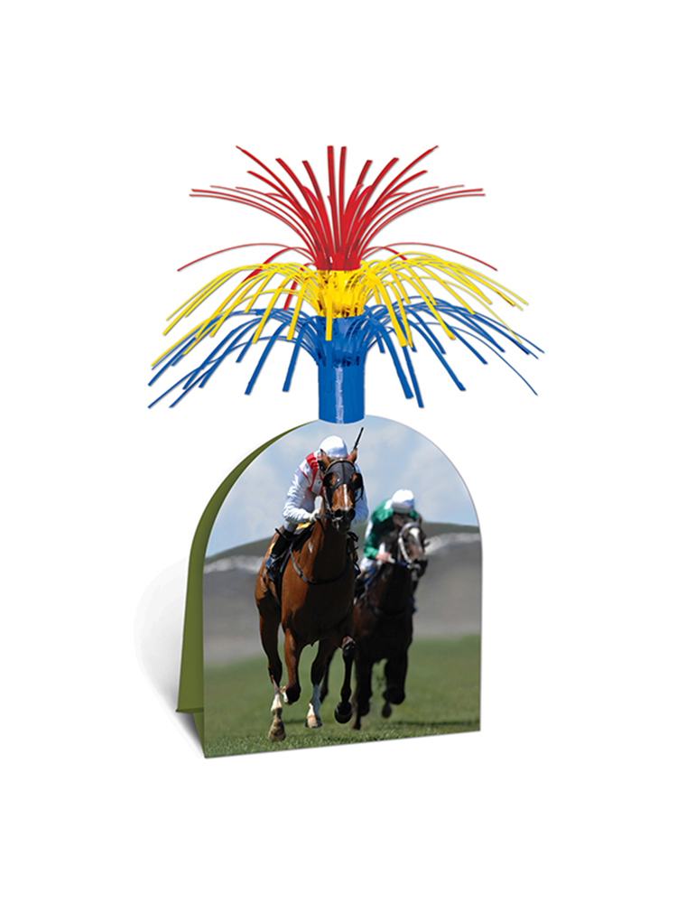 Horse Racing Centerpiece 13""