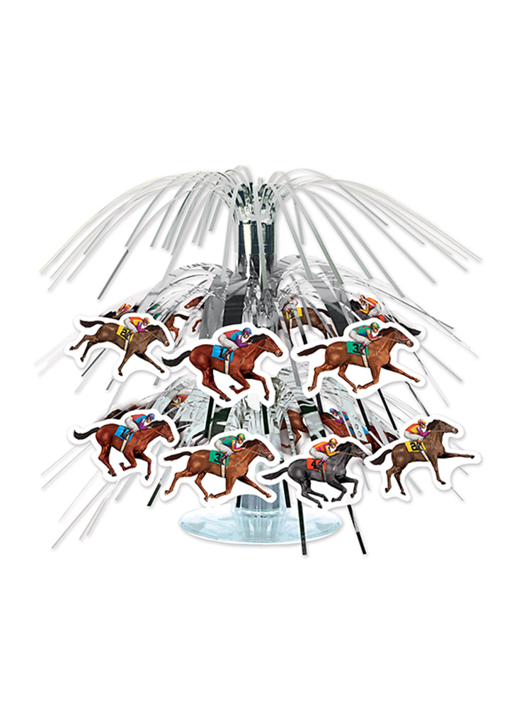 "Horse Racing Mini Cascade Centerpiece 7½"""