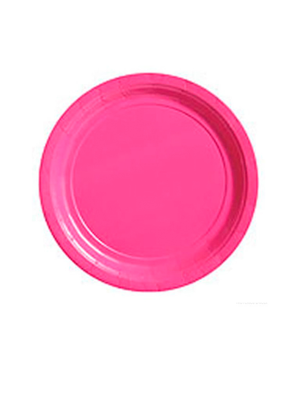 "Hot Pink 9"" Paper Plates (pk 8 )"