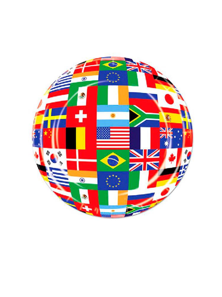 "International Flag 7"" Plate ( 8 plates per pack)"