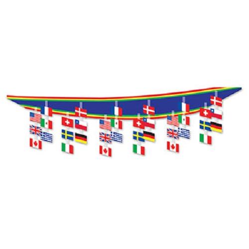 International Flag Ceiling Decoration