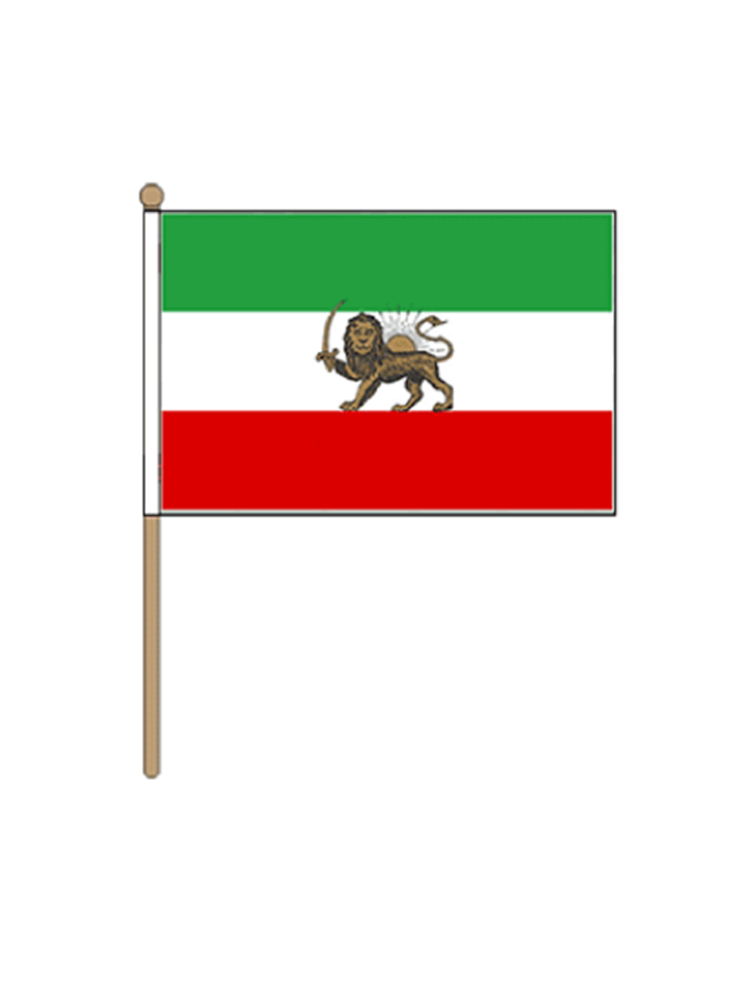 Iran Hand Held Flag