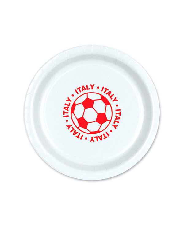 """Italy Football 9"""" Plate ( 8 plates per pack)"""