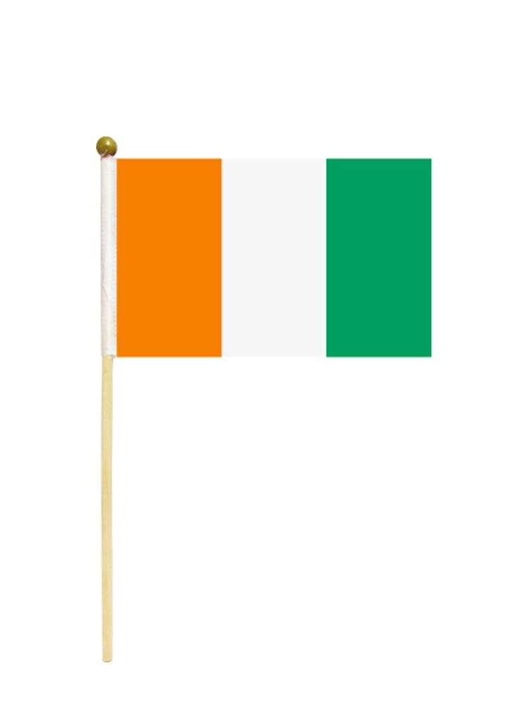 Ivory Coast Hand Held Flag