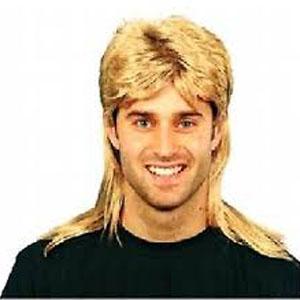 Jason/Mullet Wig . Blond Colour