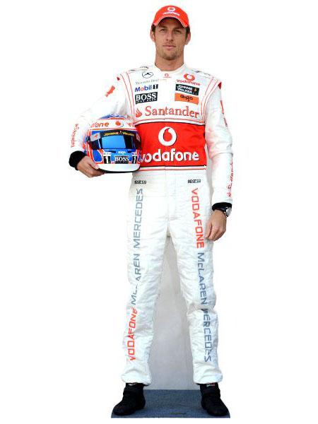 Jenson Button Cardboard Cutout