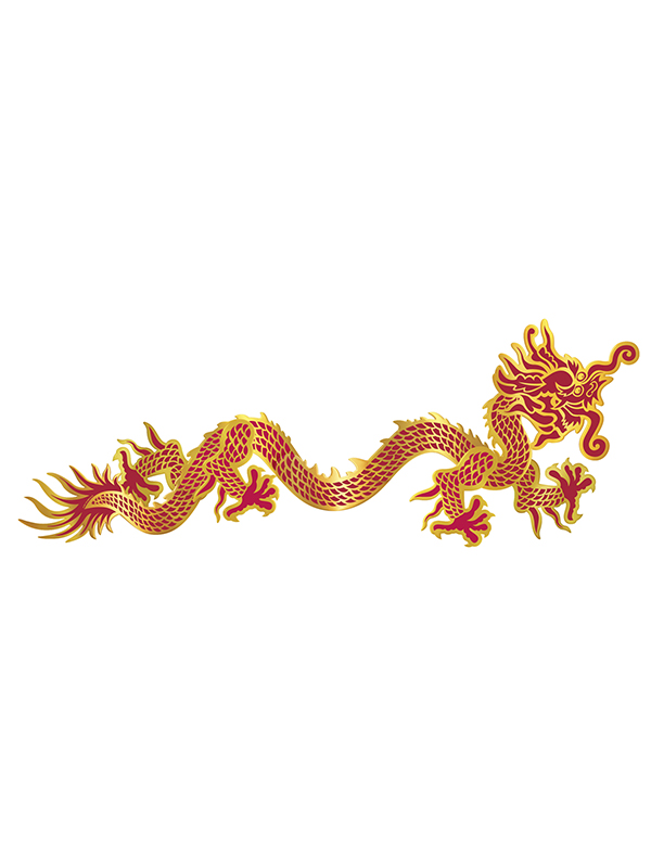 Oriental Jointed Dragon 3'