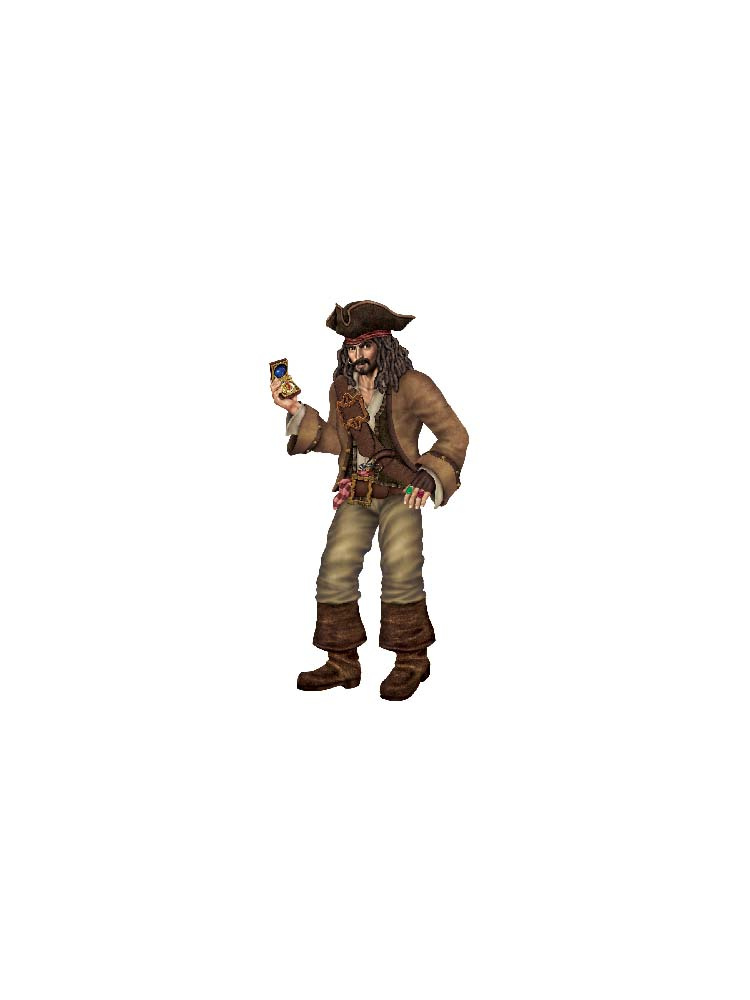 Jointed Pirate Captain 6'