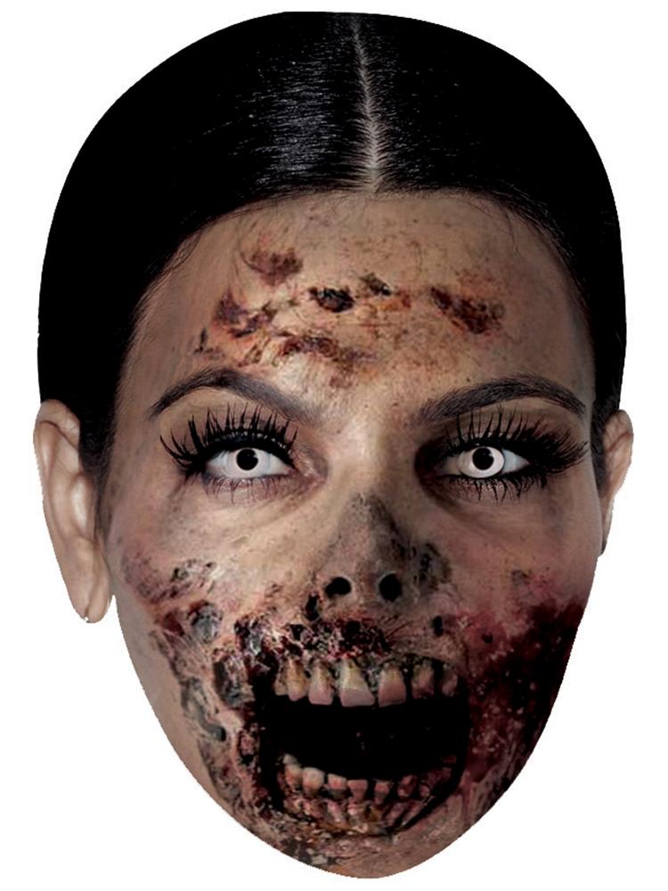 Kim Kardashian Zombie - Cardboard Mask