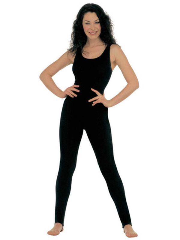 Lady Bodysuit No Sleeves Black