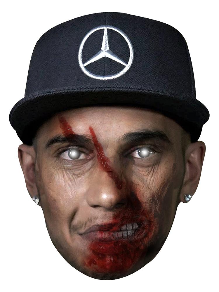 Lewis Hamilton With Cap Zombie - Cardboard Mask