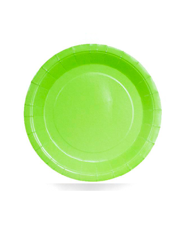 """Lime Green Paper Plates 9"""""""