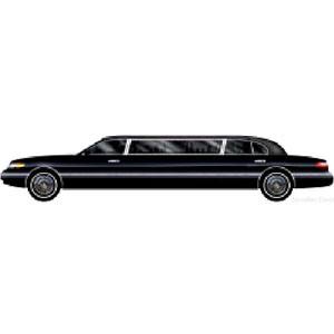 Limo Decoration. Limousine Cut Out 6ft Long (Quantity 1)