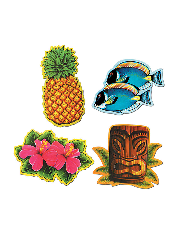 Luau Cardboard Cutout Decorations