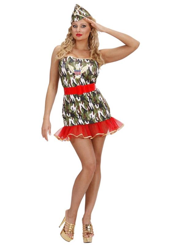 Lycra Army Girl (Dress Belt Hat)