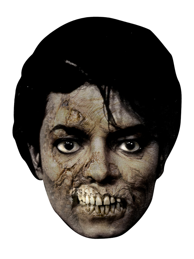 Michael Jackson Bad Zombie Cardboard Mask Novelties Parties