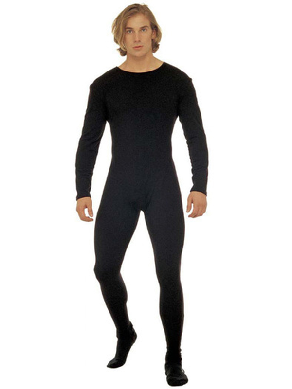 Man Bodysuit W/Sleeves Black