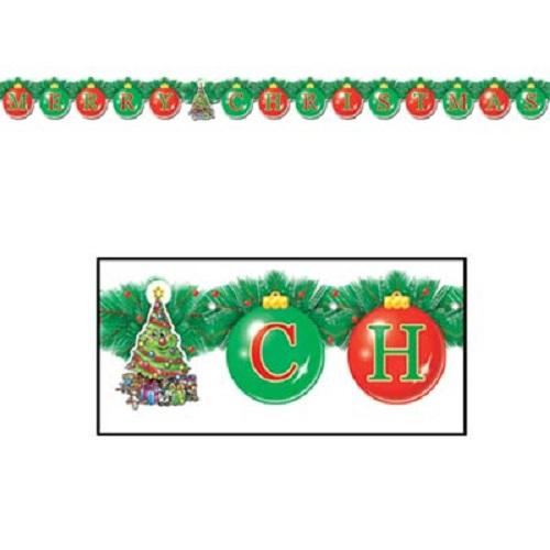 "Merry Christmas Streamer 5¼"" x 5' 6"""