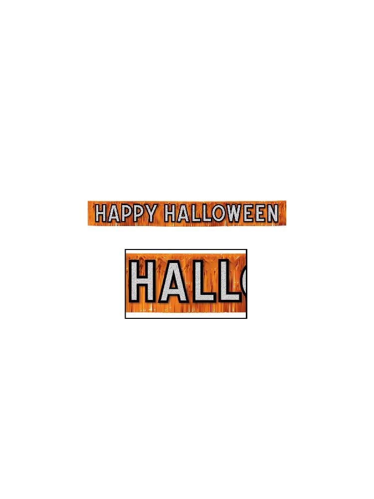 Metallic Happy Halloween Banner