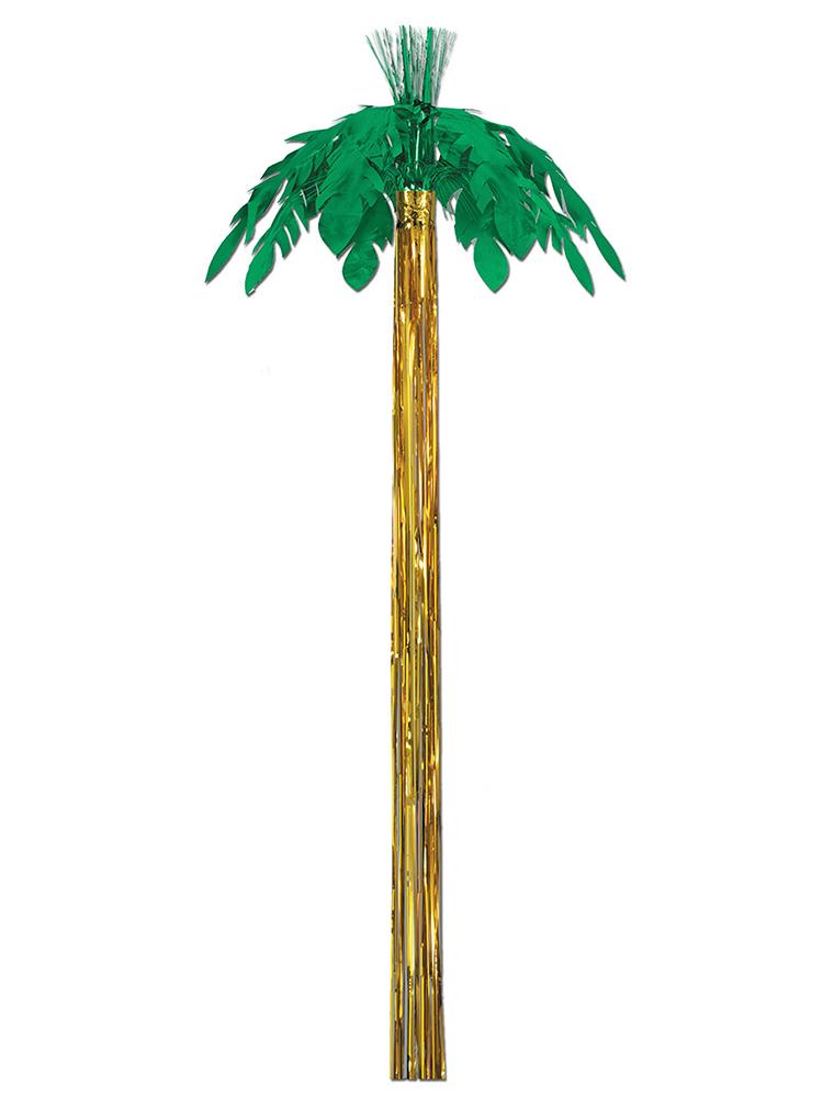 Metallic Hanging 8' Palm Tree Decoration