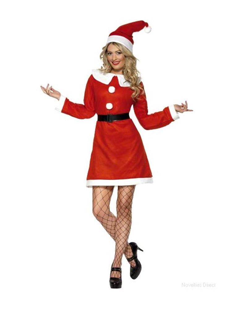 Miss Santa Costume Bargain With Dress Hat And Belt
