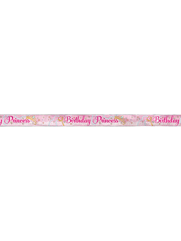 New Pink Princess Foil Banner