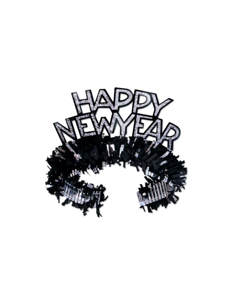 New Year Regal Tiaras - Black & Silver (25)