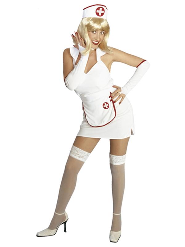 Nurse Feelbetter Dress Apron Gloves Choker Headpiece