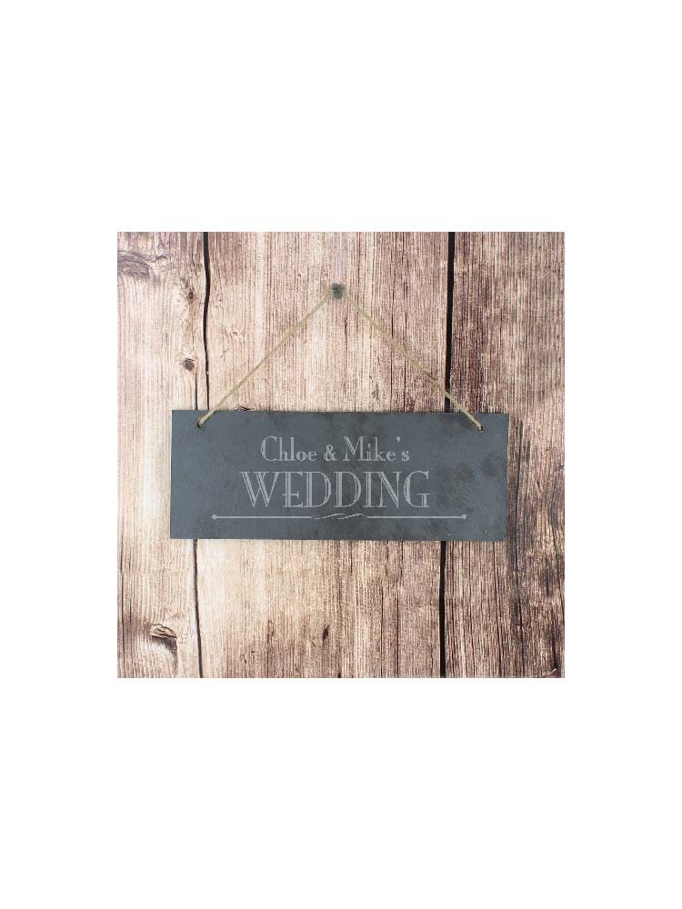Personalised Wedding Hanging Slate Plaque