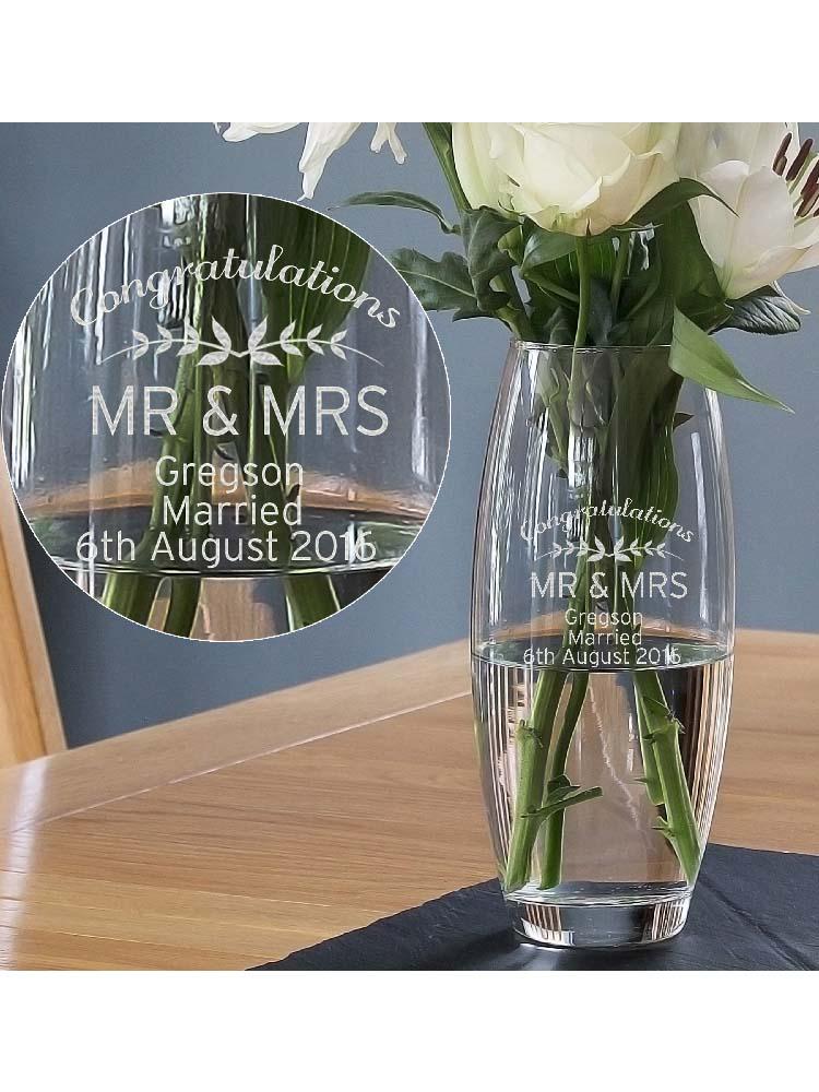 Personalised Classic Glass Vase