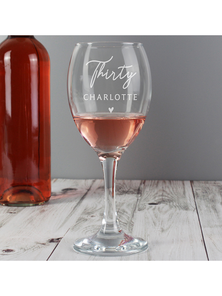 Personalised Big Age Wine Glass