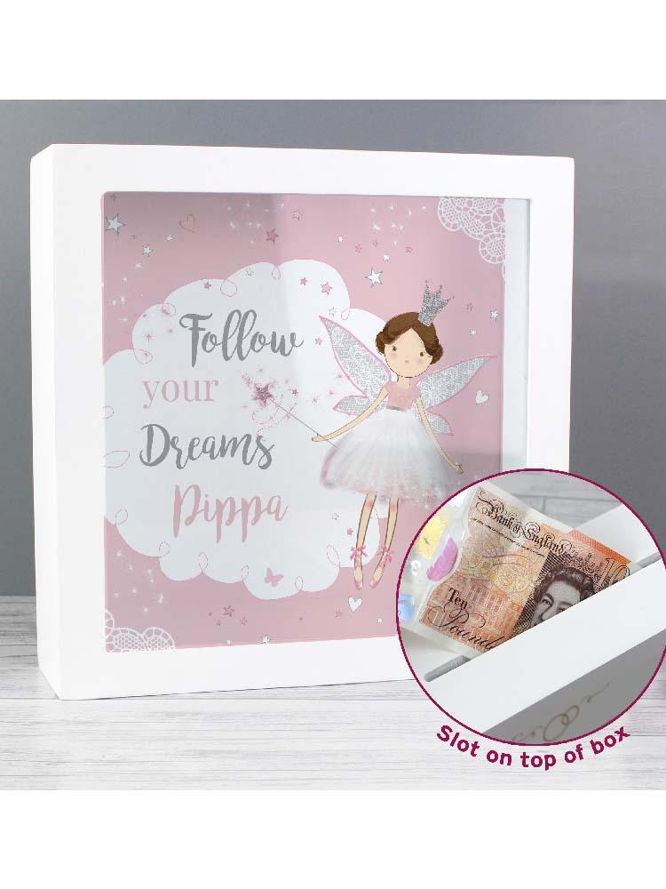 Personalised Fairy Princess Fund and Keepsake Box
