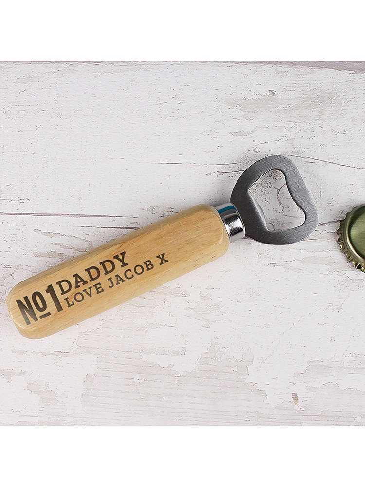 Personalised No.1 Wooden Bottle Opener