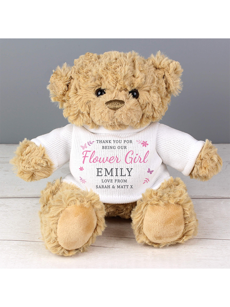 Personalised Girls Free Text Teddy Bear