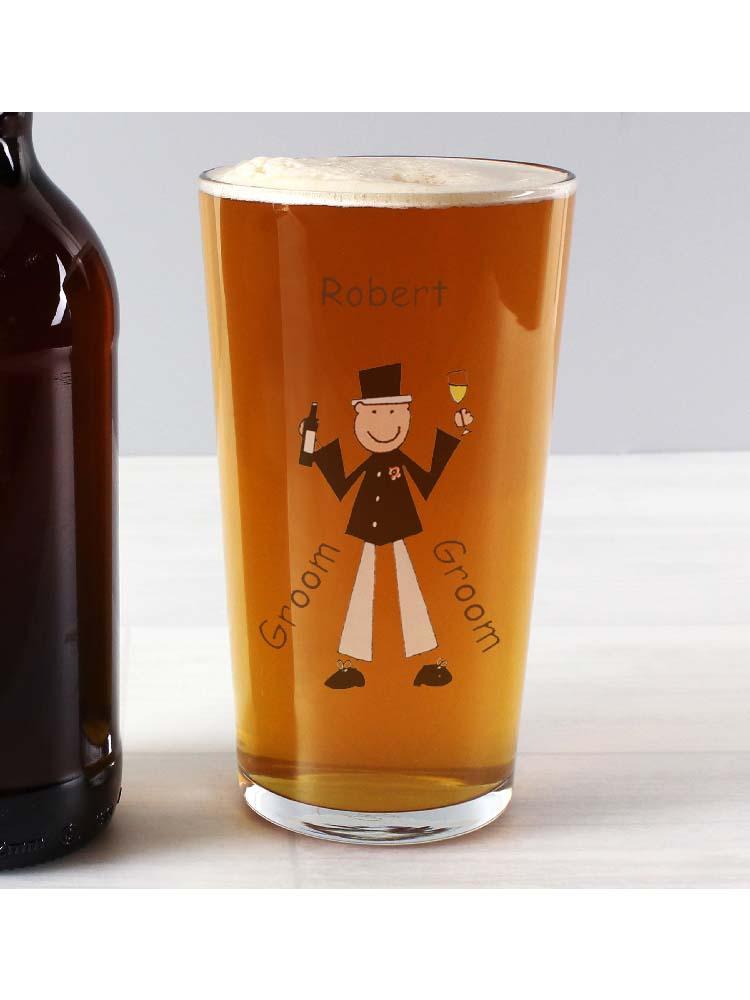 Personalised Cartoon Pint Glass