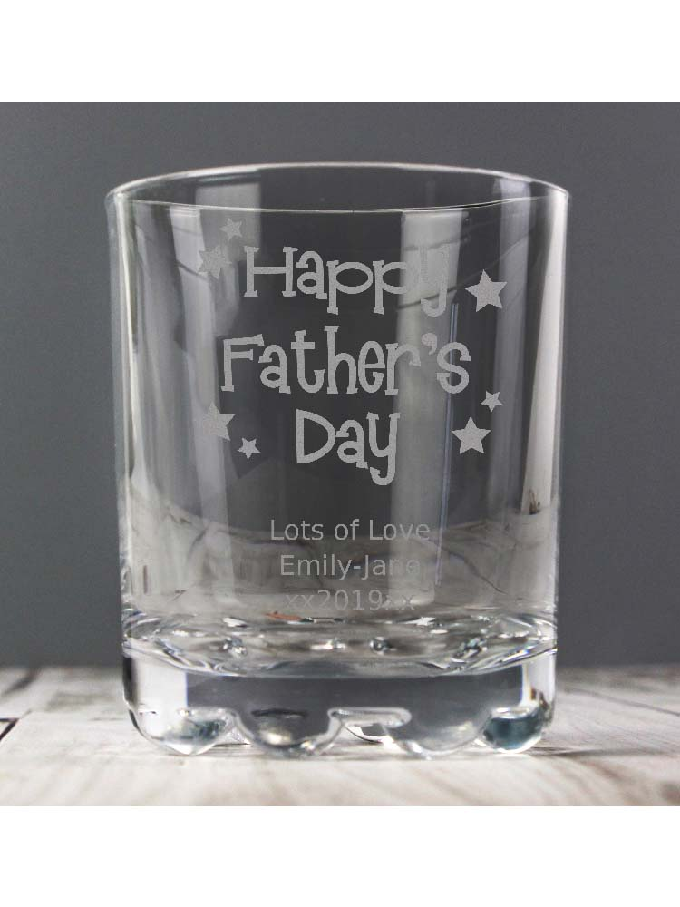 Personalised Happy Father's Day Stars Tumbler