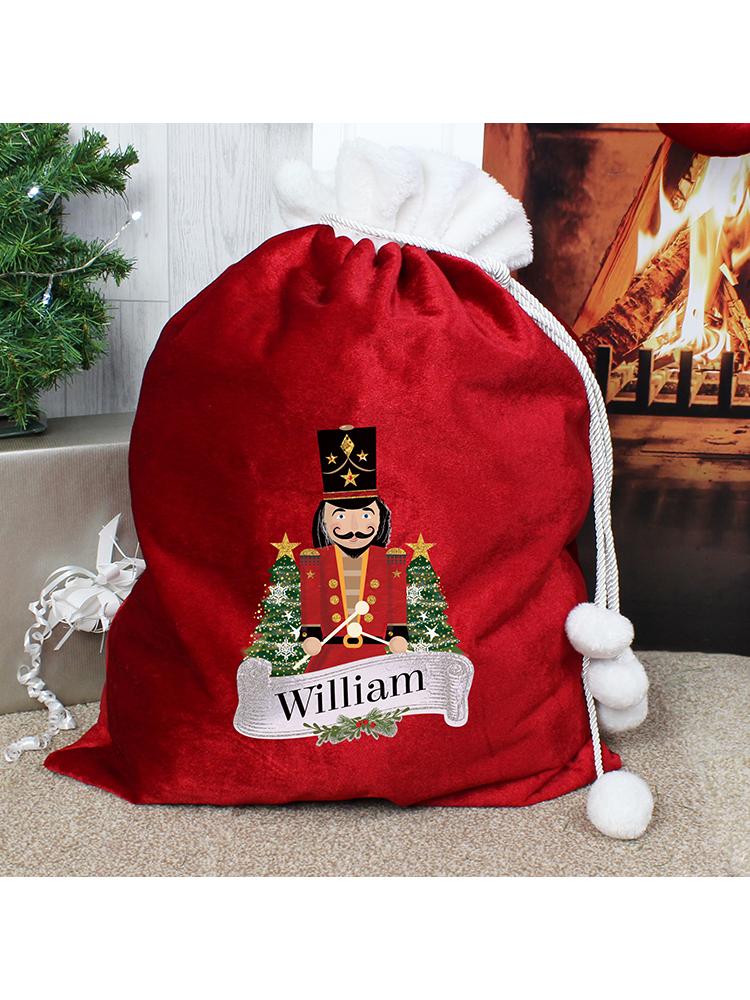 Personalised Red Nutcracker Sack