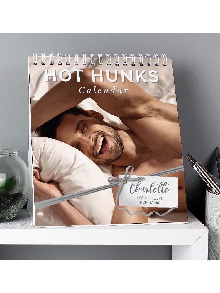 Personalised Hot Hunks Desk Calendar