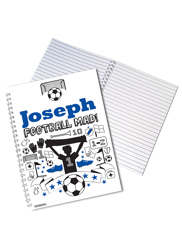 Personalised Football A5 Notebook