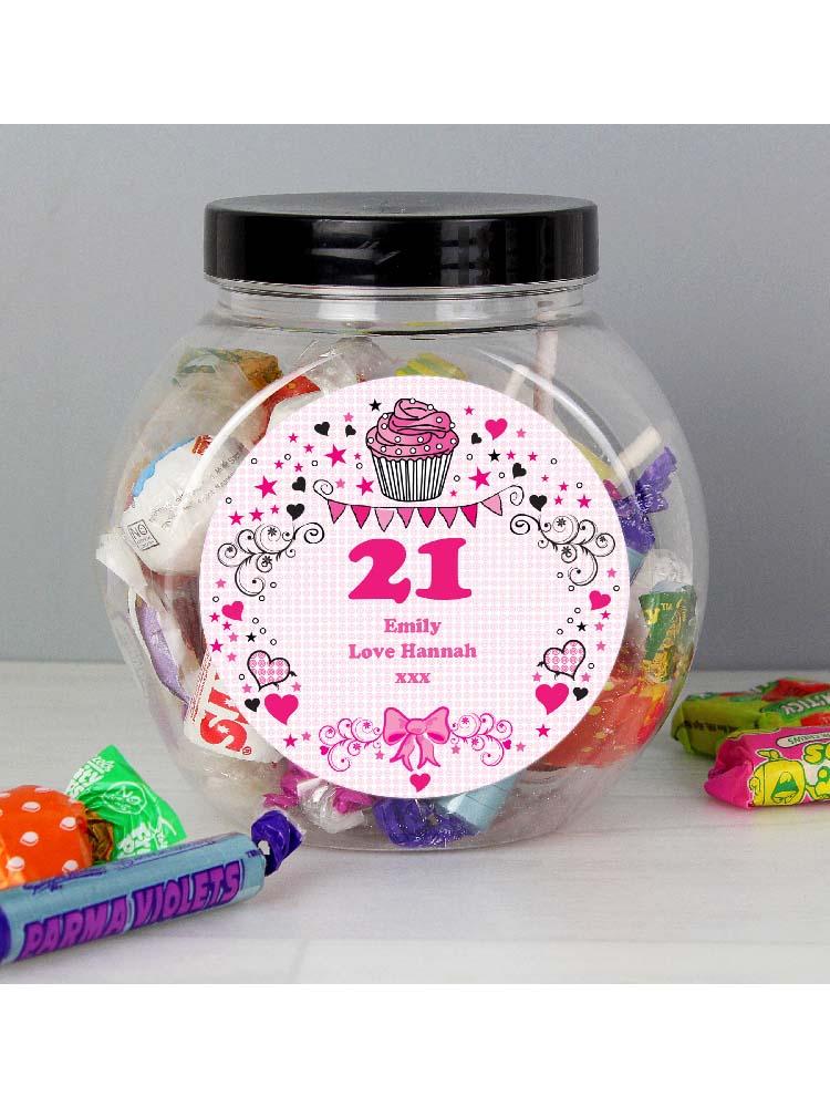 Personalised Birthday Big Age Sweet Jar